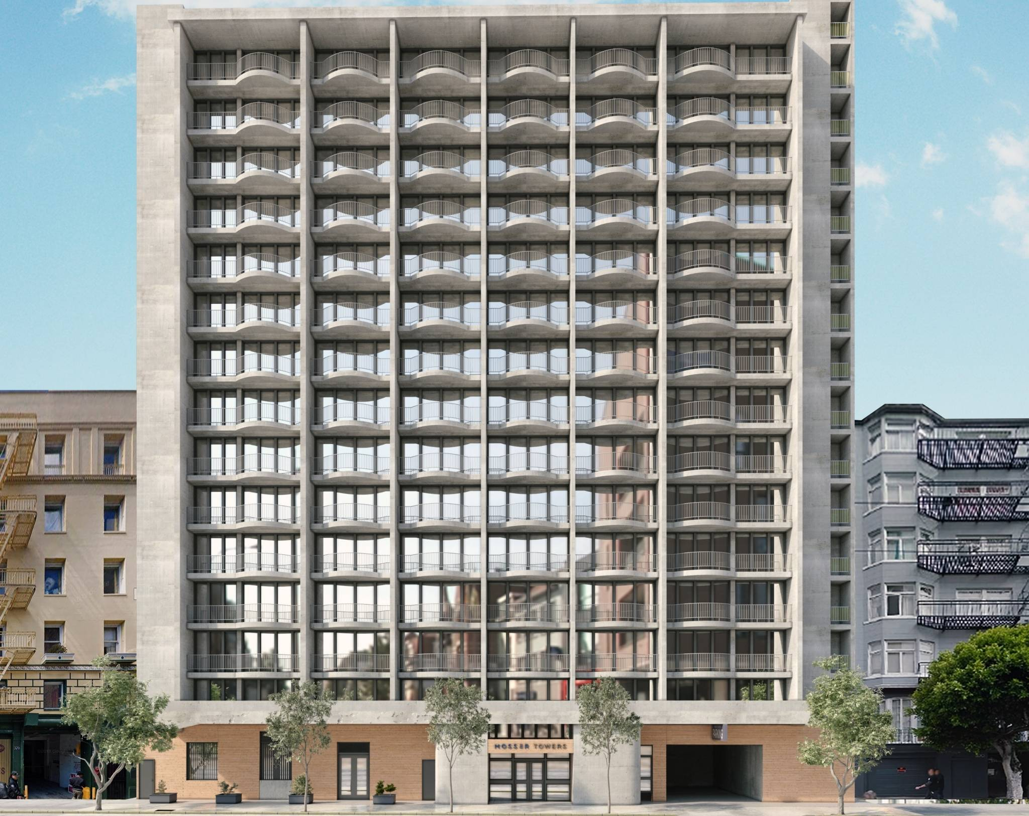 Can a pure residential apartment building be retrofitted into a mixed-use building?